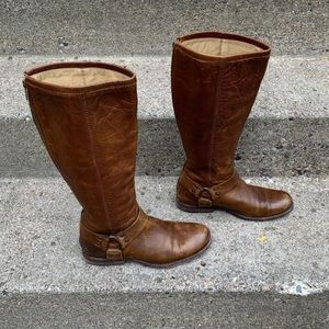 Frye Phillip Harness Womens Boots Size 8